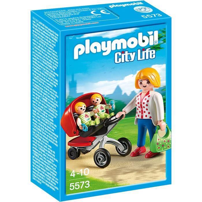 UNIVERS MINIATURE PLAYMOBIL 5573 - City Life - Maman avec Jumeaux et