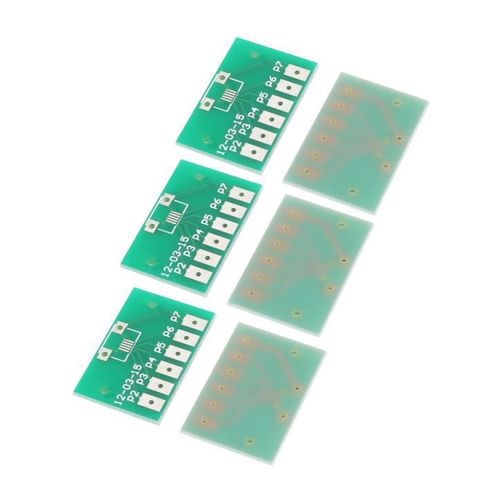 sourcingmap/® 7 pcs Prototype PCB universel simple face circuit imprim/é 7 x 9cm Vert