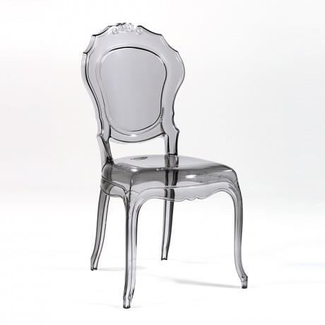 chaise baroque transparente