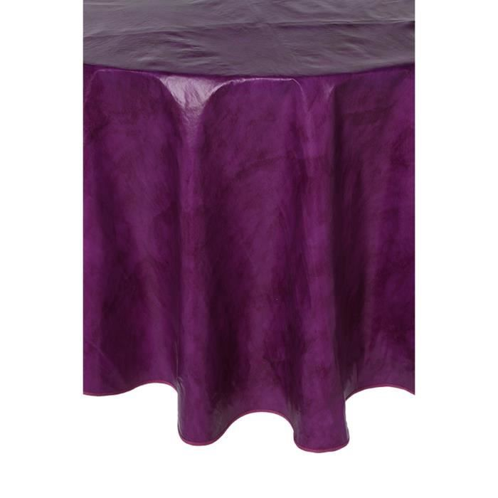 toile cir e ronde violette achat vente nappe de table cdiscount. Black Bedroom Furniture Sets. Home Design Ideas