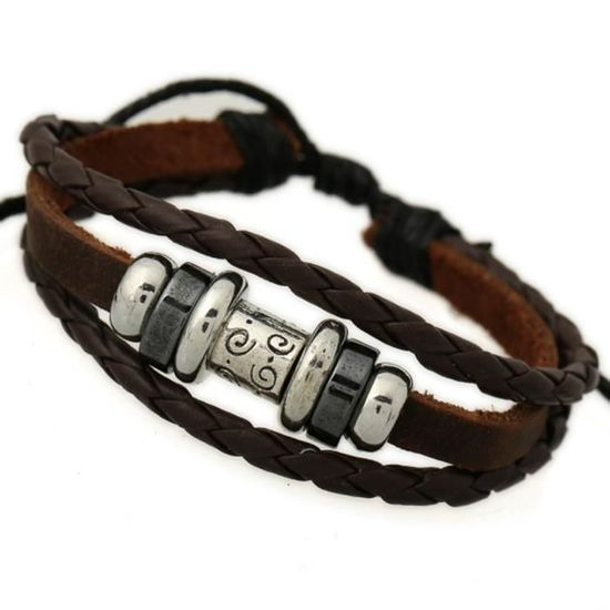 bracelet cuir femme reglable