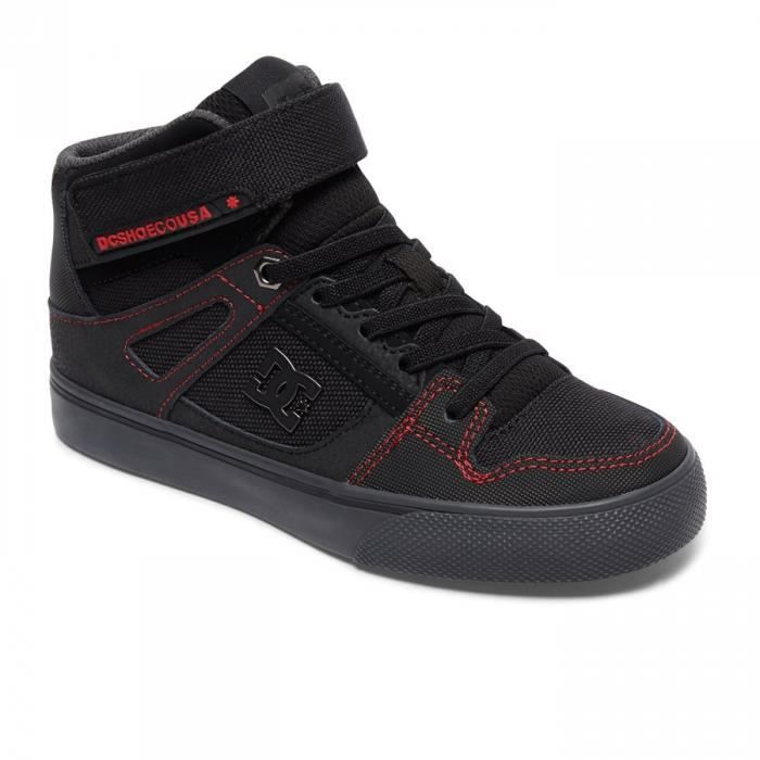 Chaussures Enfant Spartan High Se Black Red Grey- DC Shoes