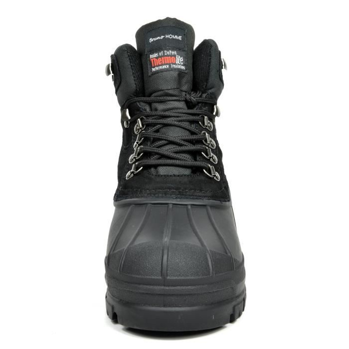 Bruno Homme Northern Waterproof Rubber Sole Winter Snow Boots SM5AL Taille-44