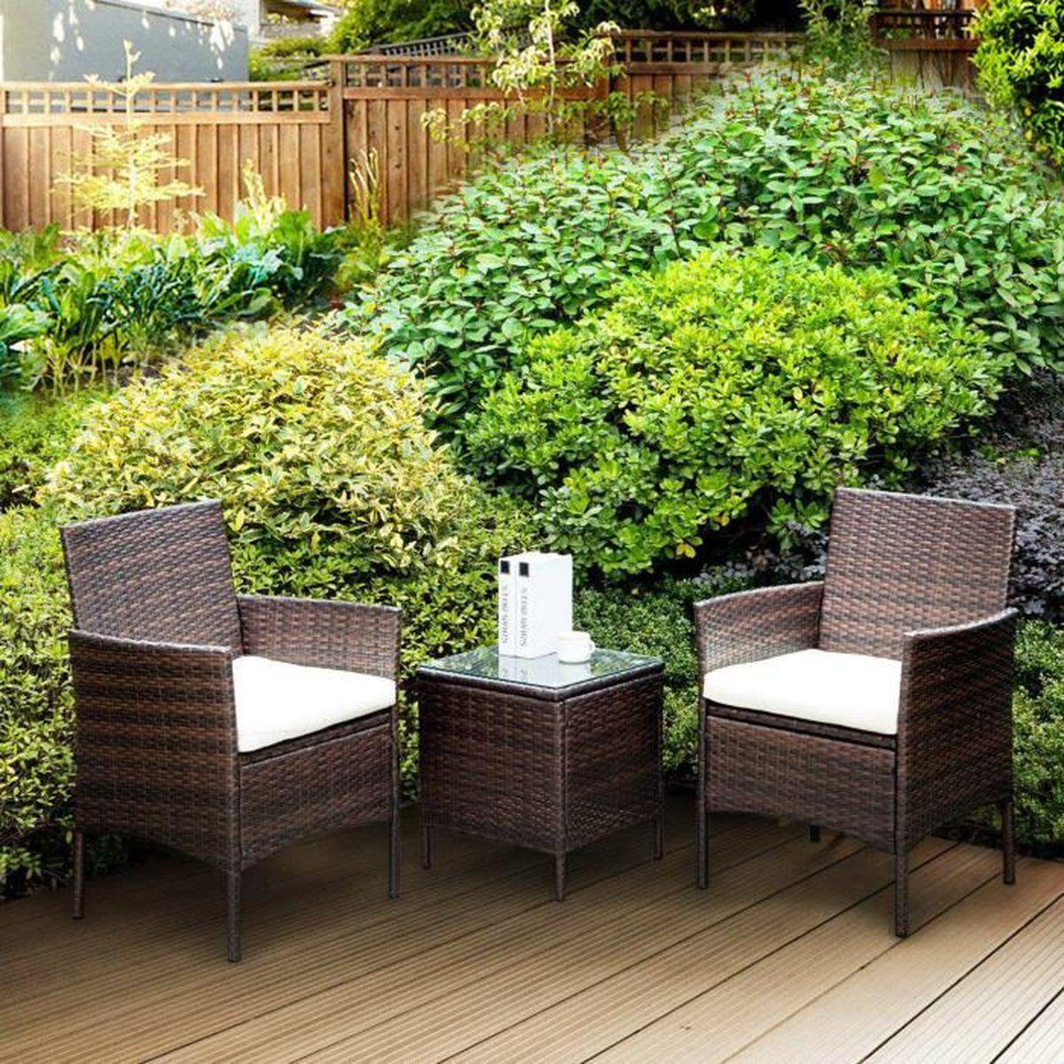 Salon de jardin 3 piece