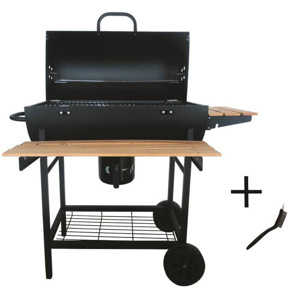 Préparer Un Barbecue Pour 20 Personnes robby - barbecue à charbon 70x35cm + brosse - smoker chef xl