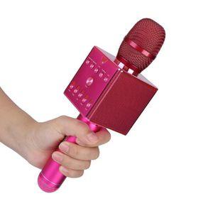 HAUT-PARLEUR - MICRO LANQI Microphone Bluetooth de karaoké à réverbérat