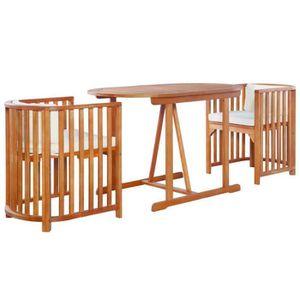 Ensemble table et chaise de jardin Mobilier de Jardin 7 pcs Bois d'Eucalyptus Massif