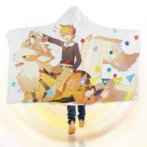 COUVERTURE - PLAID 3D Hooded Blanket for Pokemon 8242  Couverture à C