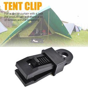 Lot 10 Clips Pince pour Bâche Auvent Tente Camping Outil de Serrage