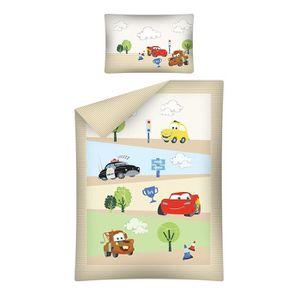 HOUSSE DE COUETTE SEULE Parure de lit Disney Cars pour Bébé 100x135 cm - H