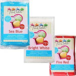 PATE A SUCRE Kit de pâte à sucre France - bleu-blanc-rouge - 75