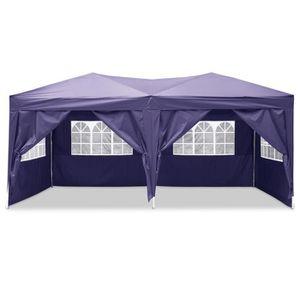 TONNELLE - BARNUM Tente de réception Pliante 3 x 6m pliante  violet