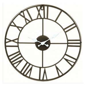 horloge vintage metal achat vente horloge vintage metal pas cher cdiscount. Black Bedroom Furniture Sets. Home Design Ideas