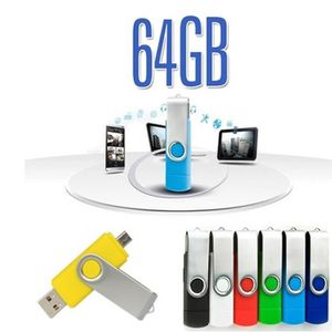 CLÉ USB noir 64Go Clé USB duo: USB 2.0 - micro USB