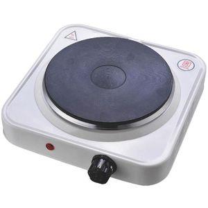 PLAQUE POSABLE Platine de cuisson électrique 1 feux 1500W Blanc
