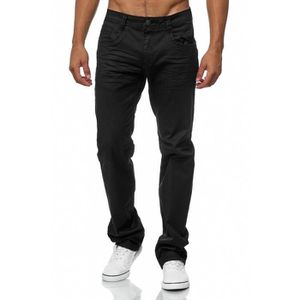 JEANS Hommes Jeans Coated Black Regular Fit Big Taille s