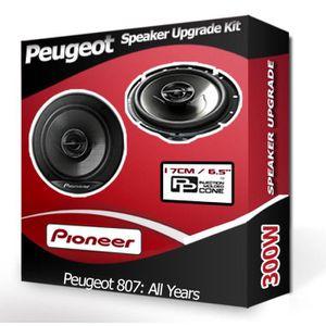 HAUT PARLEUR VOITURE Haut-parleurs Peugeot 807 Haut-parleur Pioneer 17c