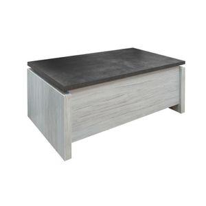 TABLE BASSE Table basse relevable Chêne gris/Ardoise - HIMEJI