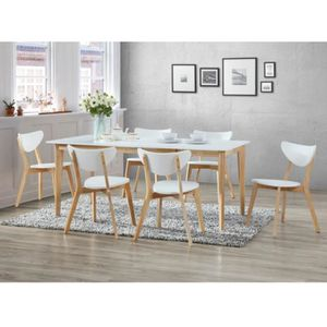 table manger complte pack salle manger ensemble table 6 chaises ca - Ensemble Table Et Chaise Style Scandinave