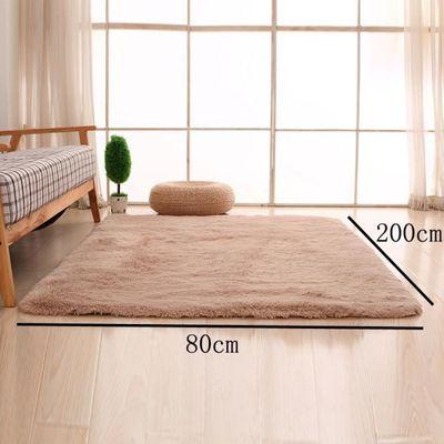 Marron Clair 80*200cm Tapis chambre enfant Tapis Salon du sol maison  décoration confortable shaggy Moquette Velours Yoga