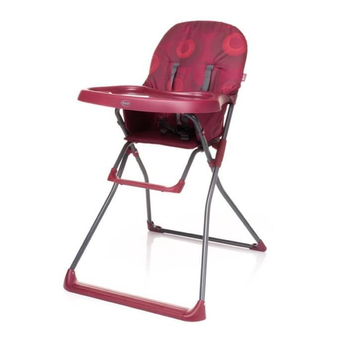 FLOWER ROUGE Chaise haute pour bébé Pliable Gain de place Plateau