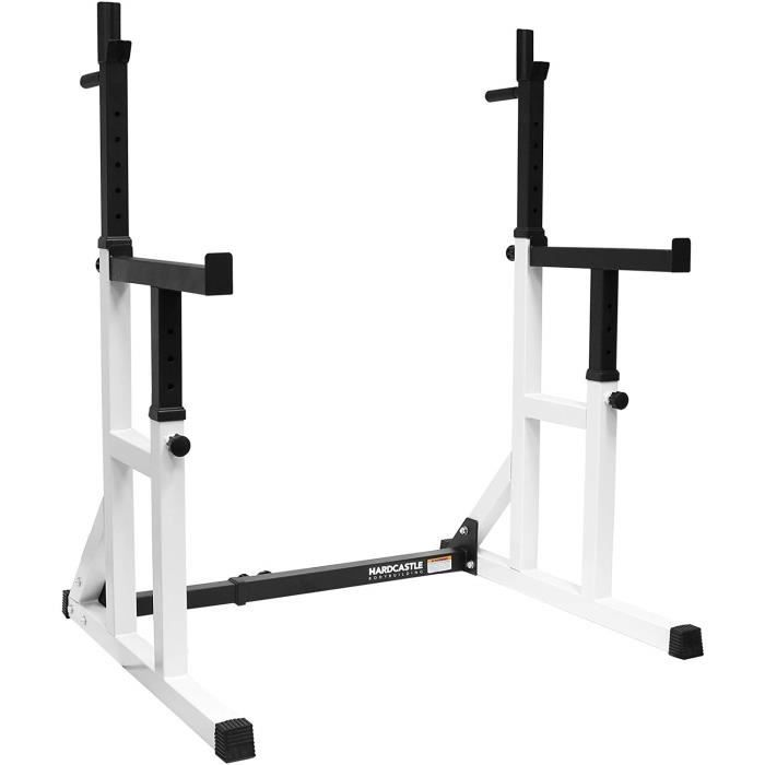 chandelles hauteur largeur reglable support dips barre musculation max 250kg Rack cage squat developpé couché Fitness crossfit