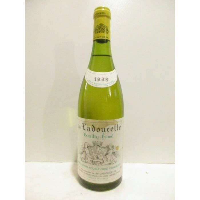 pouilly-fumé de ladoucette (b2) blanc 1988 - loire - centre