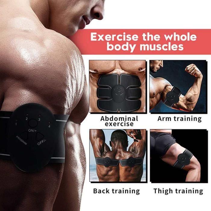 Appareil de musculation abdominale stimulateur de Massage Ab sans fil Vibration corps minc - Modèle: Black and White -