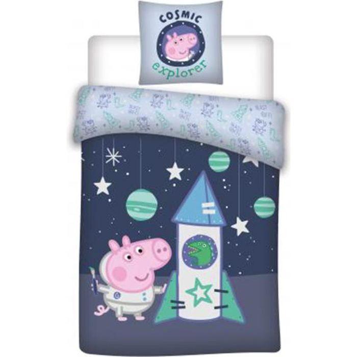 Parure de lit bébé Peppa Pig coton