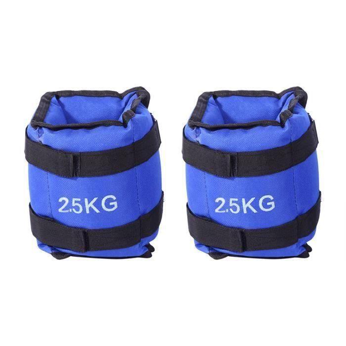 5 Kg Poignet Cheville Poids Encapsulé Sangles Réglables Sacs de Sable Équipement Fitness Exercice Formation ROSE0260