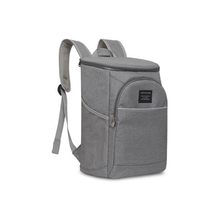 Sac à Lunch Portable,Sac isotherme épaissi imperméable grand sac de glace emballage alimentaire conteneur - Type Gray