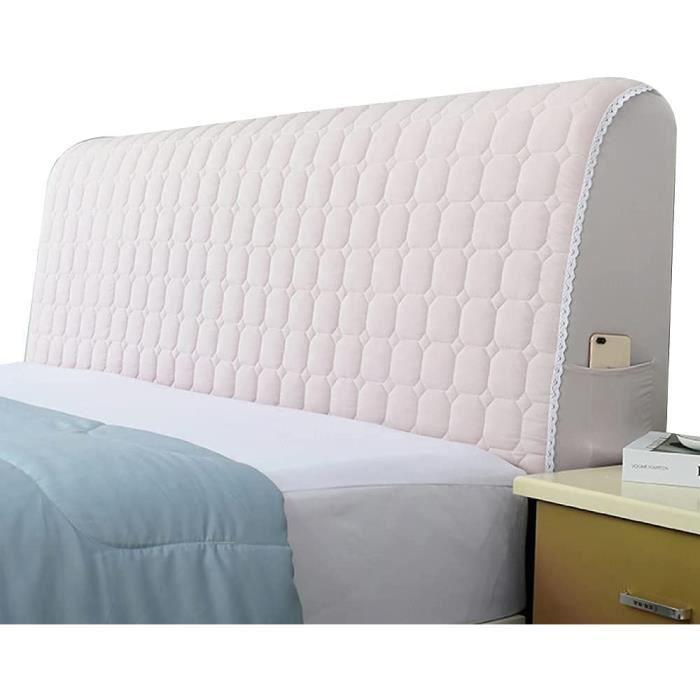 tete de lit bois selle Housse de tête de lit en Coton Tissu Doux Tout Compris Housse de tête de lit en Bois Massif Style Simple A231