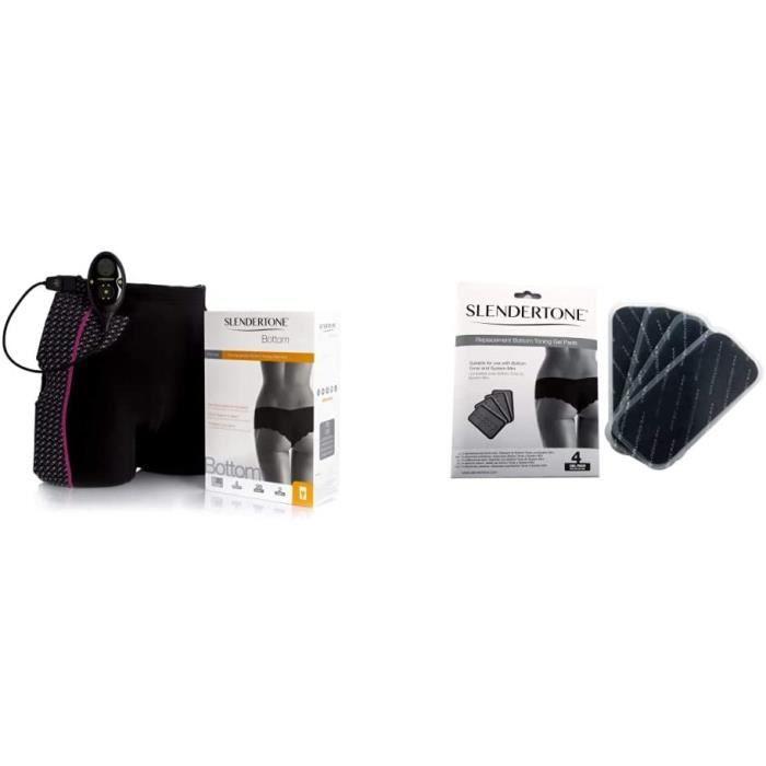 Slendertone Short d' eacutelectrostimulation Femme Noir, Taille 34-40 (Tour de Taille: 61-81cm-hanches: 81-97cm) Electrodes adh e