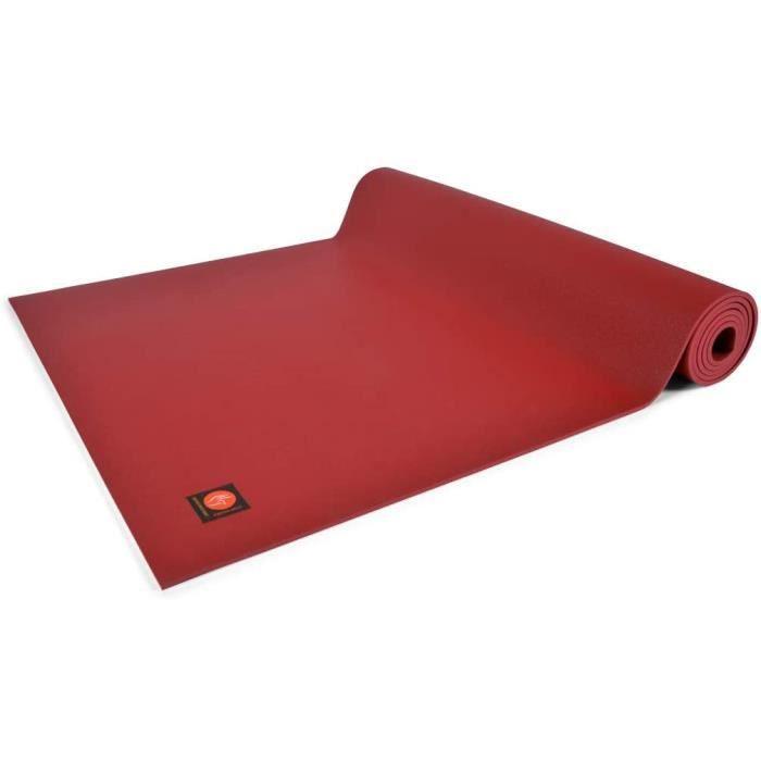 TAPIS DE YOGA Mudra Tapis de Yoga Excellence Mat 185cm x 63cm x 45mm 100 Latex Bordeaux443