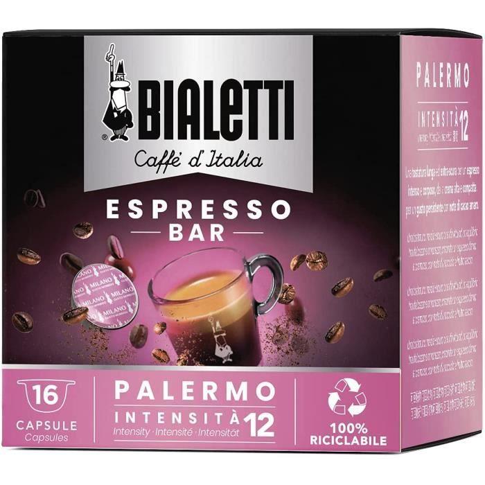 Café Palermo - 16 Capsules Mokespresso « I Caffè d'Italia » - Café Intensité Extra Forte - Arôme Cacao Très Amer