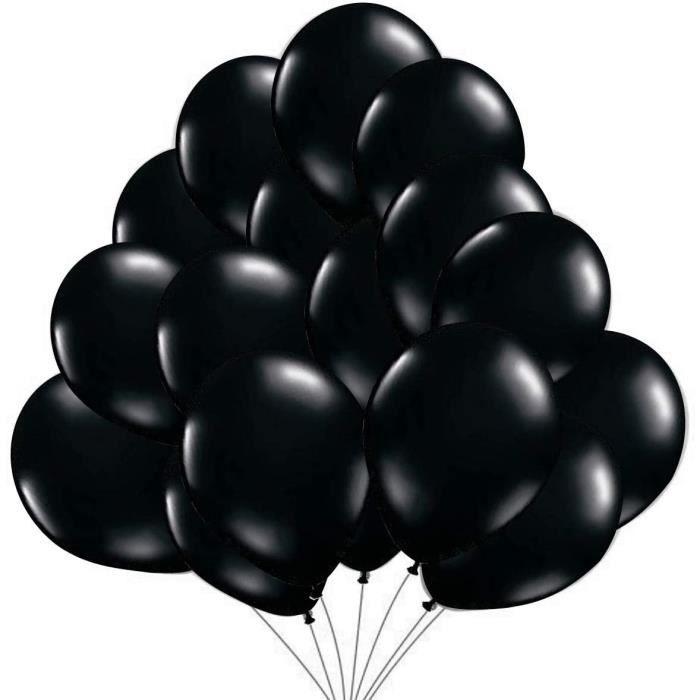 50 Ballons Noir Ballons de Baudruche Noirs Perle Nacre. Ballons d'Anniversaire Gonflables 36cm - 3.2 g Decorations de fete et a498
