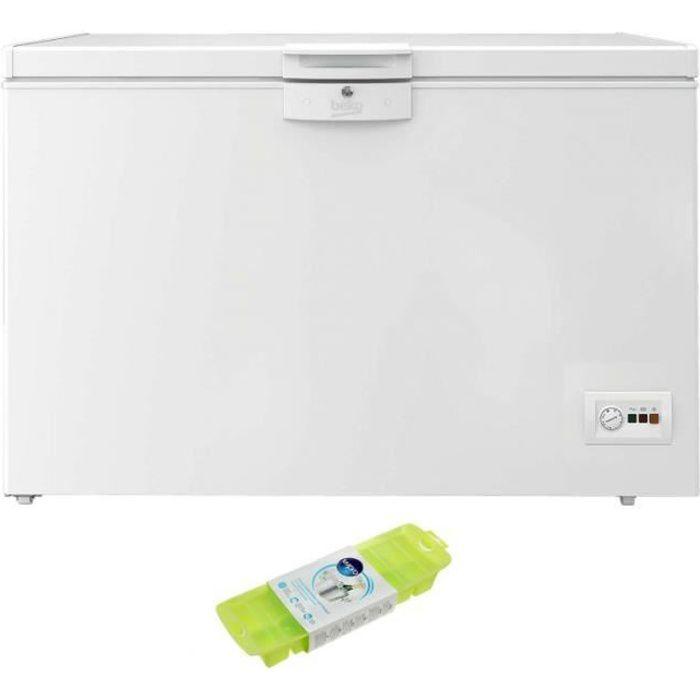 BEKO Congélateur coffre blanc 284L Autonomie 45h MinFrost Freezer Guard 68 Blanc