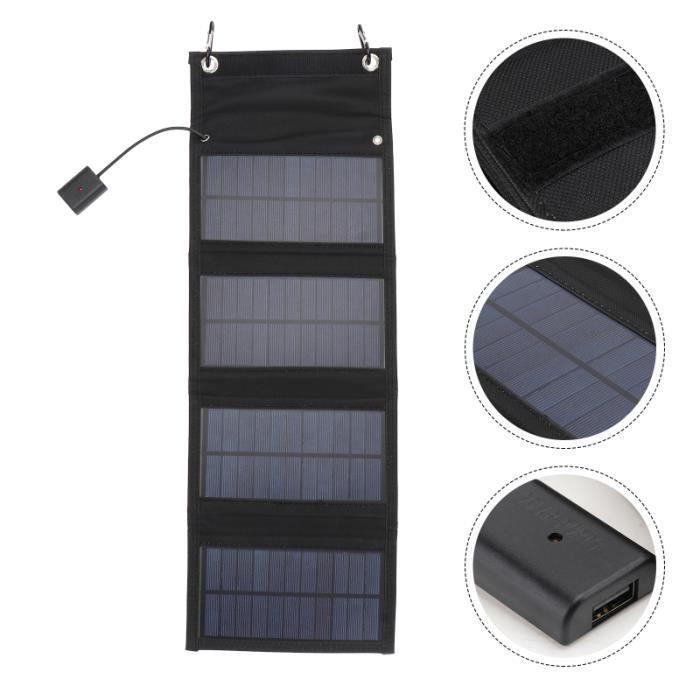 1PC Panneau solaire pliable Chargeur de secours Sac de kit photovoltaique - kit solaire genie thermique - climatique - chauffage
