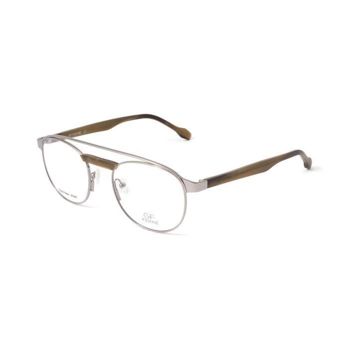 Lunettes de vue homme GF FERREGFF0162-004-50 Couleur gris mat métal - marron mat  T.50