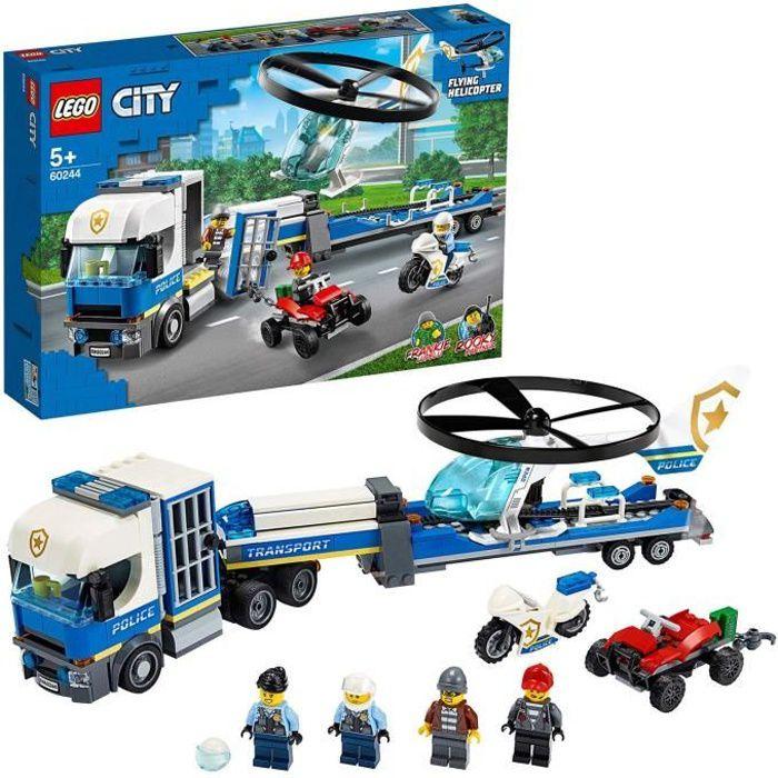 LEGO® City - Le transport de l'hélicoptère de la police, Jouet de Construction Enfant 5 Ans Et Plus, 317 Pièces - 60244
