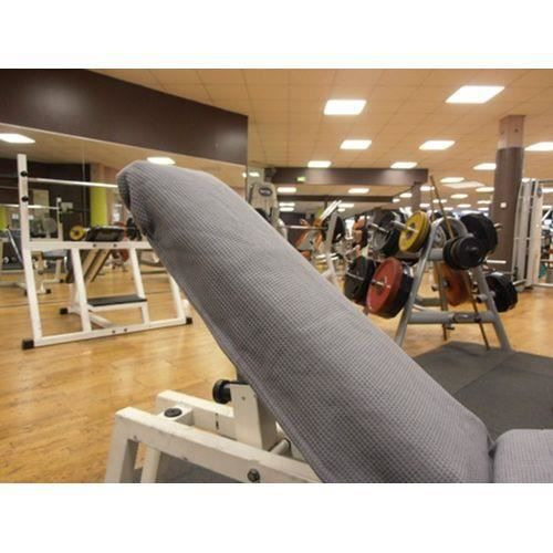 Serviette banc de musculation - Gris clair