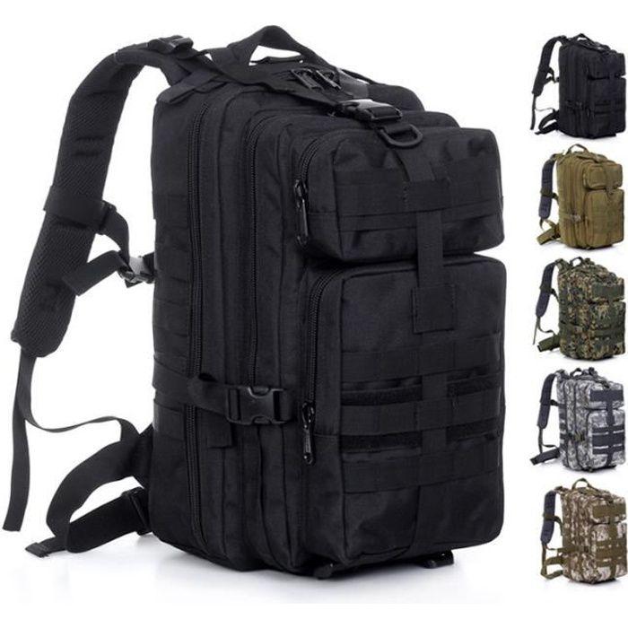1000D 30L Sport Extérieur Tactique Militaire épaule Armée Sac à dos pour Camping Trekking Randonnée - Noir
