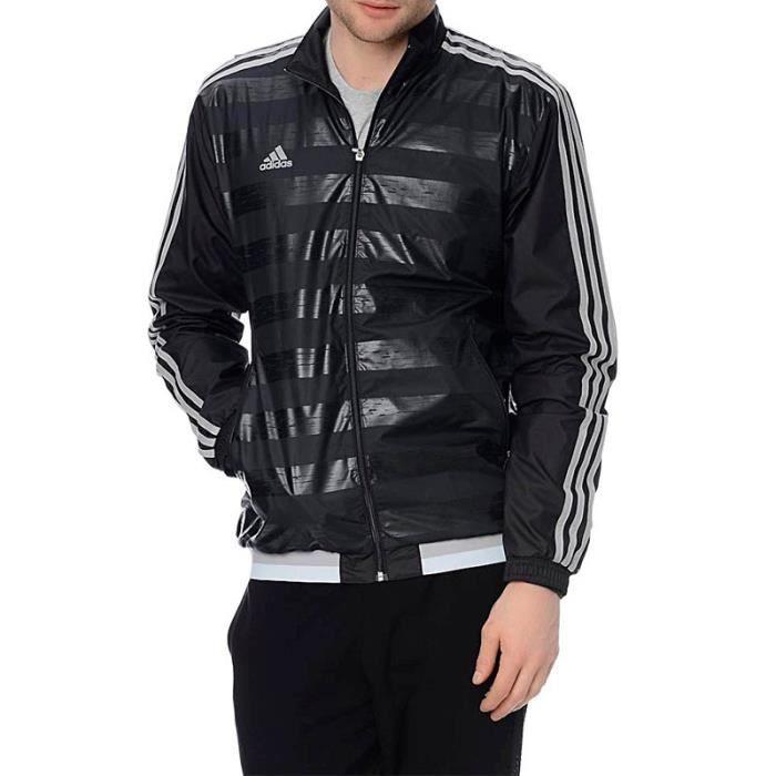 Veste Coupe-vent Noir Football Homme Adidas