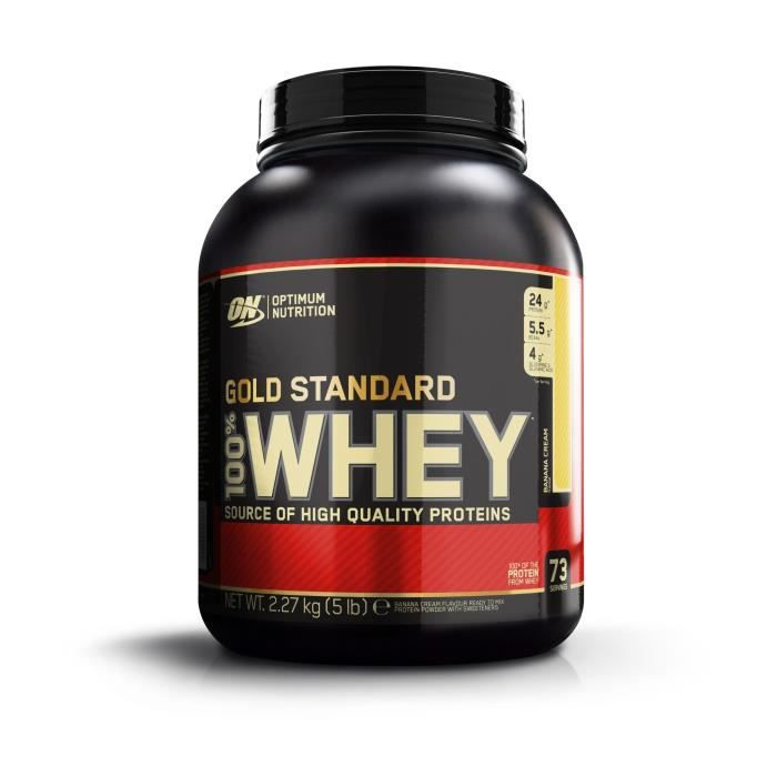 OPTIMUM NUTRITION Pot 100% Whey Gold Standard Banane - 2,27 kg