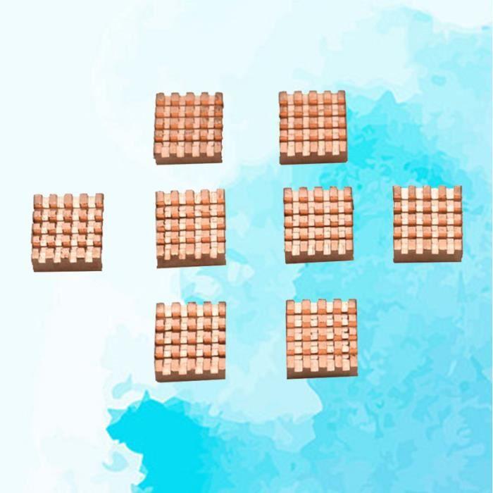 8 PCS Portable léger en cuivre dissipateurs de chaleur durables radiateurs blocs de refroidissement pour ORDINATEUR TOUT-EN-UN