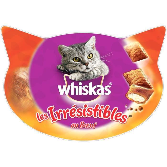 WHISKAS Les Irrésistibles friandises - Au bœuf - Pour chat - 60 g