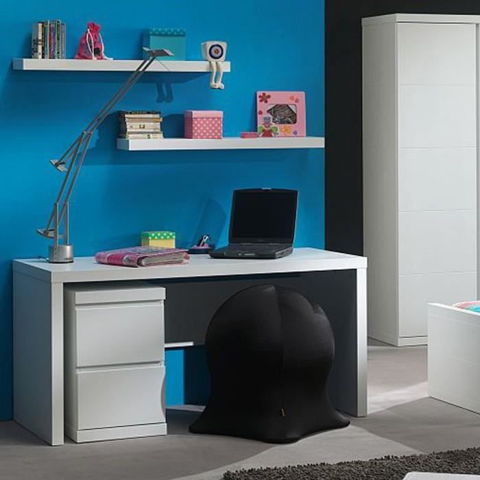 bureau enfant lara couleur blanc mati re mdf achat vente bureau bureau enfant lara couleur. Black Bedroom Furniture Sets. Home Design Ideas