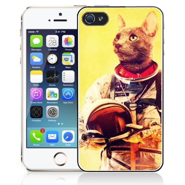 Coque iPhone 4-4S Animal Astronaute - Chat