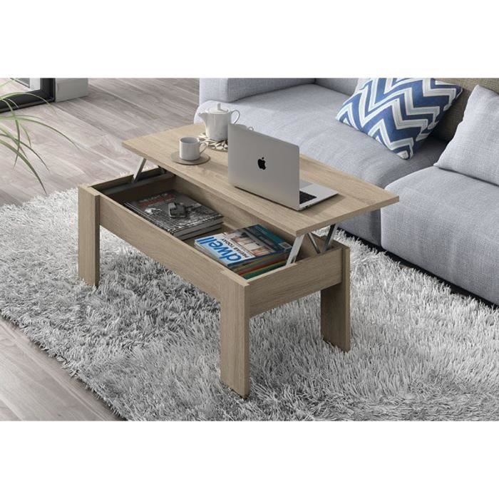 Table basse plateau relevable quasaco 426 achat vente for Table basse scandinave plateau relevable