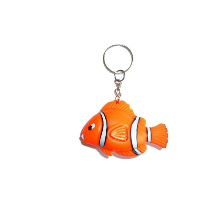 Porte cl figurine poisson clown mer orange achat for Poisson clown achat